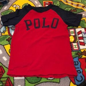 Polo shirt red and blue